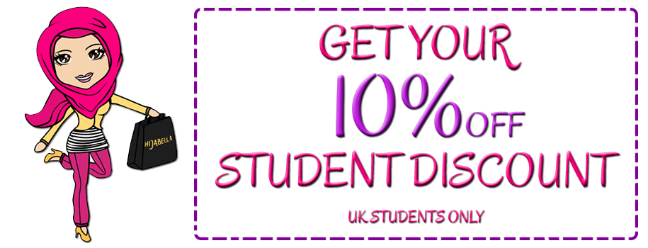 Get Student Discount on your Hijabs and Clothing