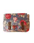 Satchel Blue Floral Bag