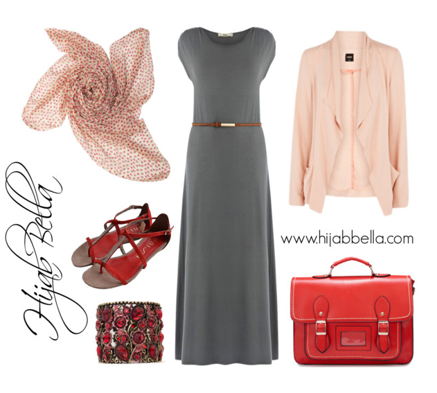 hijab style guide with shoes and hijab clothing