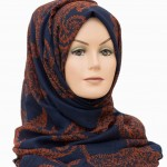 autumn hijab navy blue hijab