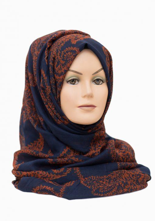 autumn hijab navy blue hijab