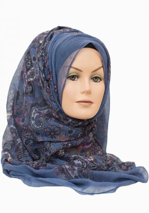 denim blue maxi hijab