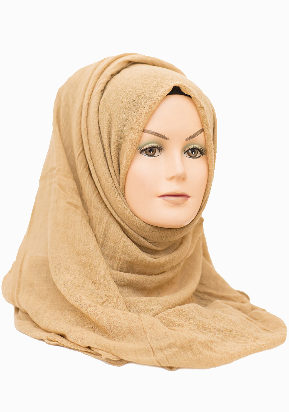 gold beige cotton maxi hijab perfect for any occasion!
