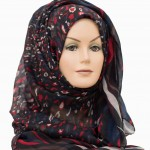 beautiful leopard print maxi hijab
