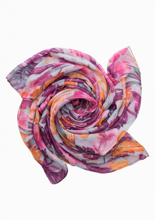 beautiful floral printed maxi hijab