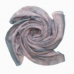 stunning paisley print maxi hijab in baby pink and grey
