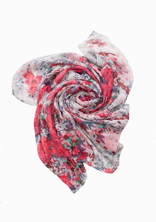 floral printed maxi hijab pink floral