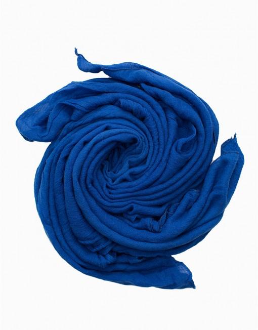 plain soft cotton maxi hijab in royal blue