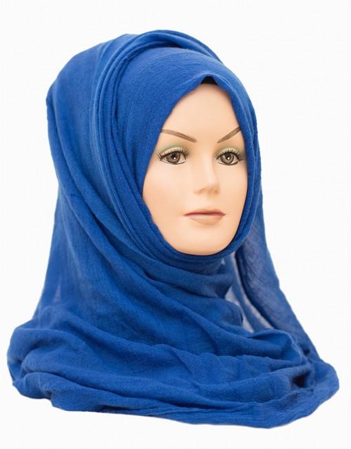 royal blue plain maxi hijab