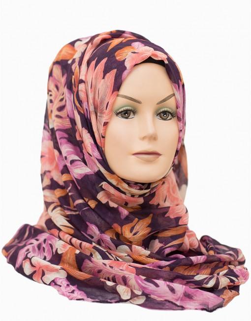 floral printed maxi hijab from hijabbella.com