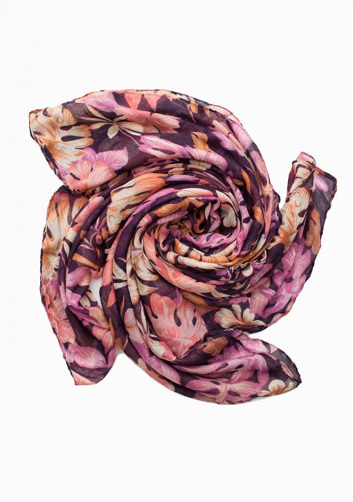 pink and purple floral maxi hijab