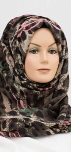 Pink and Green leopard print hijab
