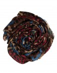 blue and red leopard print hijab