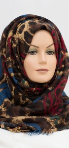 blue and red hijab