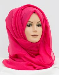 Candy Pink Maxi hijab perfect for styling