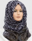 grey sequence leopard hijab