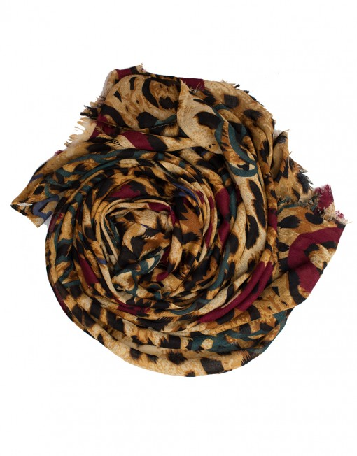 red and green leopard print hijab