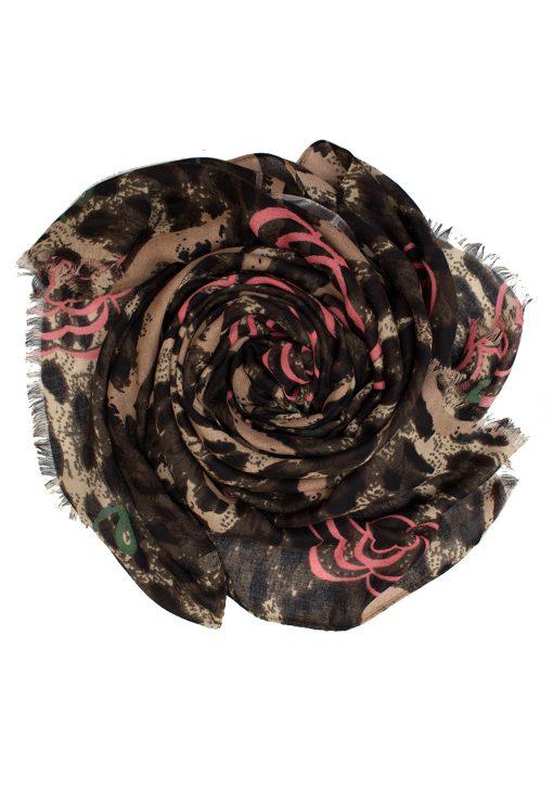 pink leopard print hijab