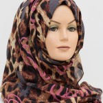 pink and grey leopard print hijab