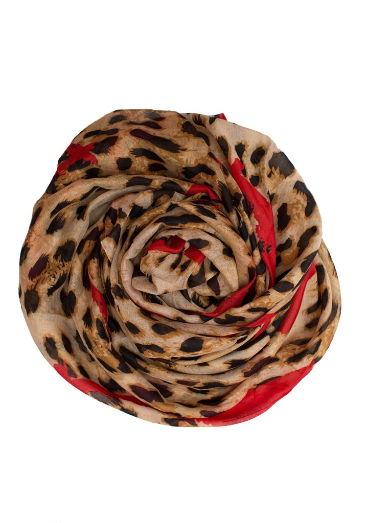 red leopard print hijab