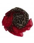red leopard print ombre hijab