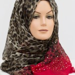 red sequence ombre hijab