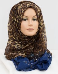 royal blue sequence hijab