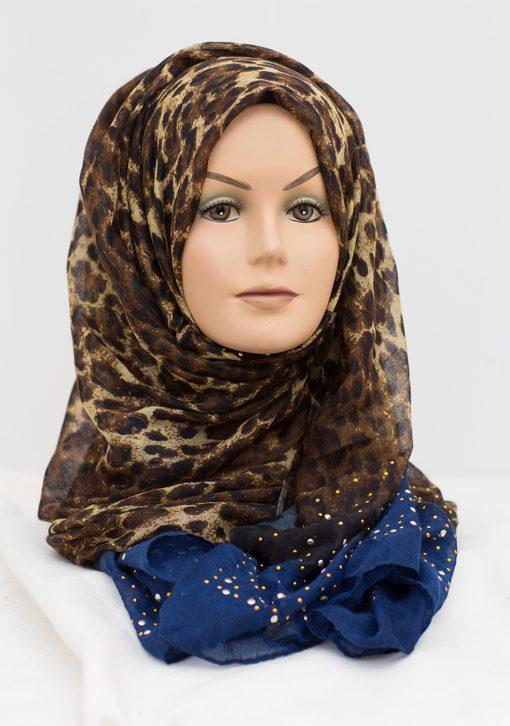 royal blue sequence hijab