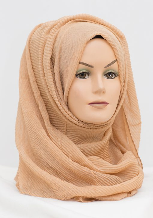 mocha brown crinkle hijab