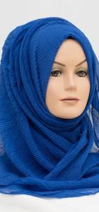 royal blue crinkle hijab