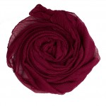 red crinkle hijab