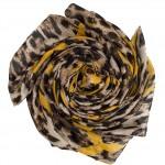 yellow leopard print hijab