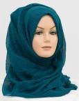 aqua teal crinkle hijab