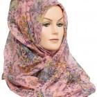 pink floral hijab