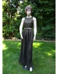 lace black maxi dress