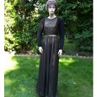 modest black evening dress