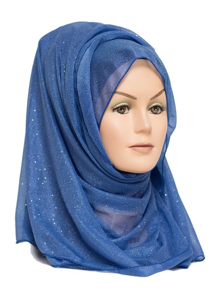blue shimmer hjiab