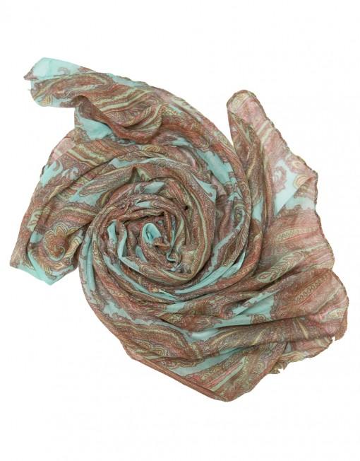 aqua paisley print hijab