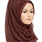 brown shimmer hijab