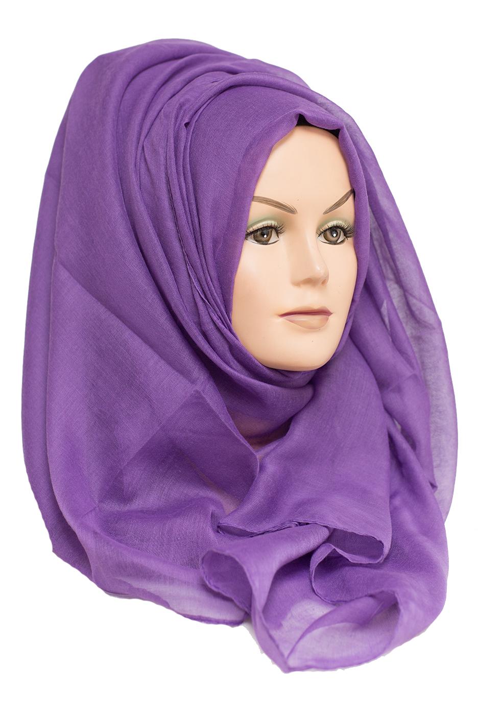 cadbury purple plain maxi hijab