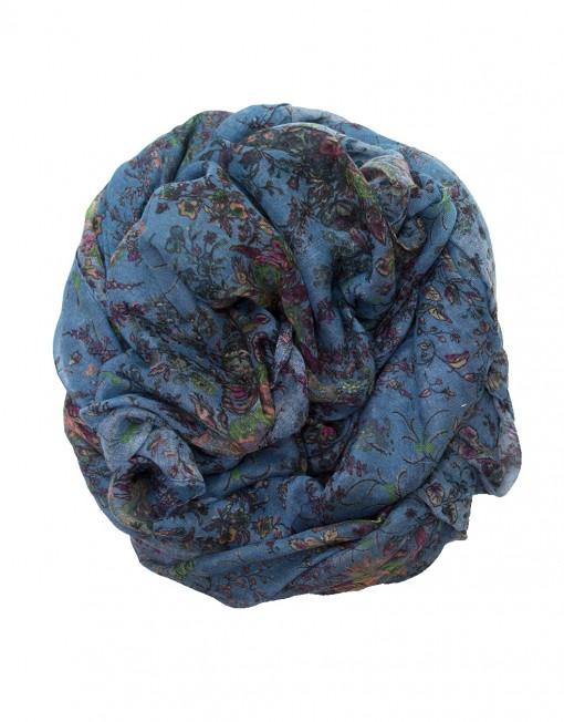 denim blue floral hijab