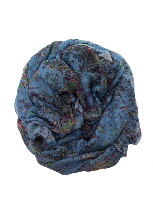 denim blue floral hijab