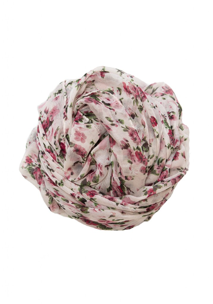 white and pink floral hijab