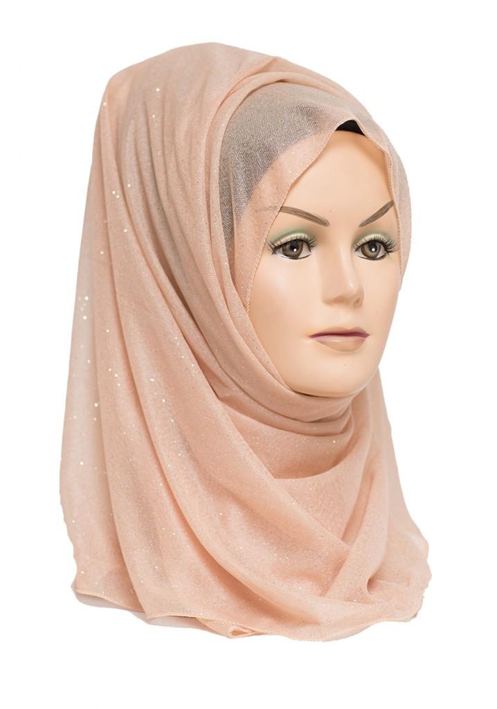 gold shimmer hijab
