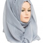 grey plain maxi hijab