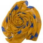 mustard and blue hearts hijab