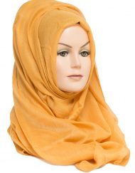 mustard plain maxi hijab