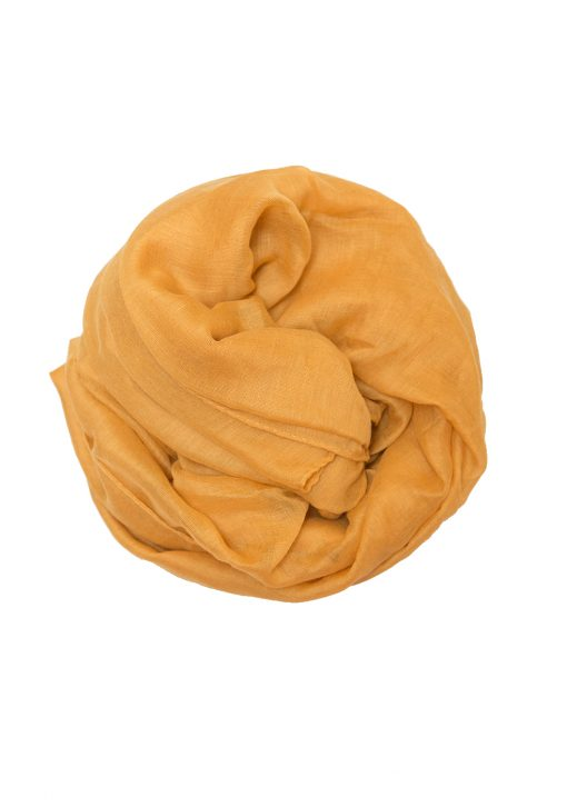 mustard yellow plain hijab
