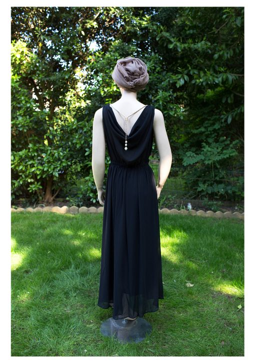 plain maxi dress black with gathers