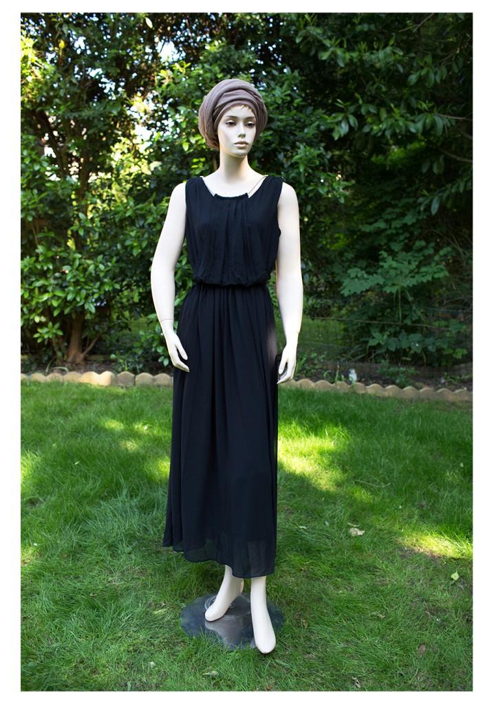 black jewel maxi dress